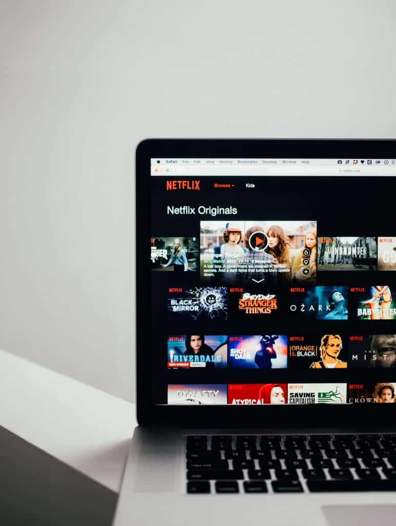 laptop with netflix loaded